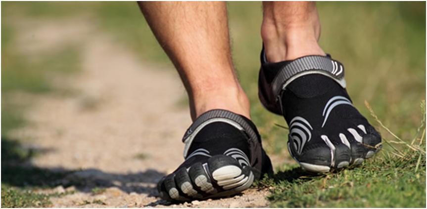corriendo con zapatos barefoot